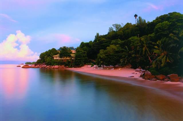 Pink beach Seychelles
