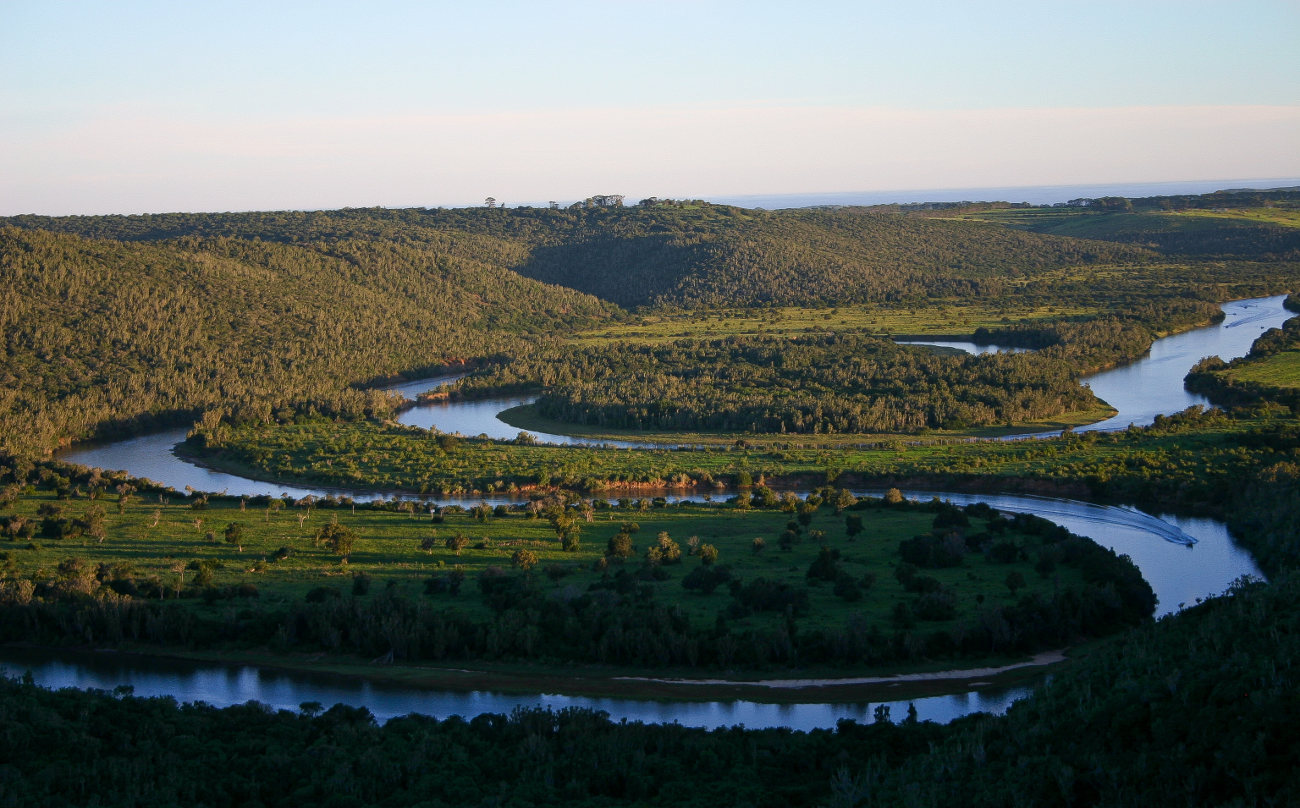 The river that leads to Sibuya Game Reserve