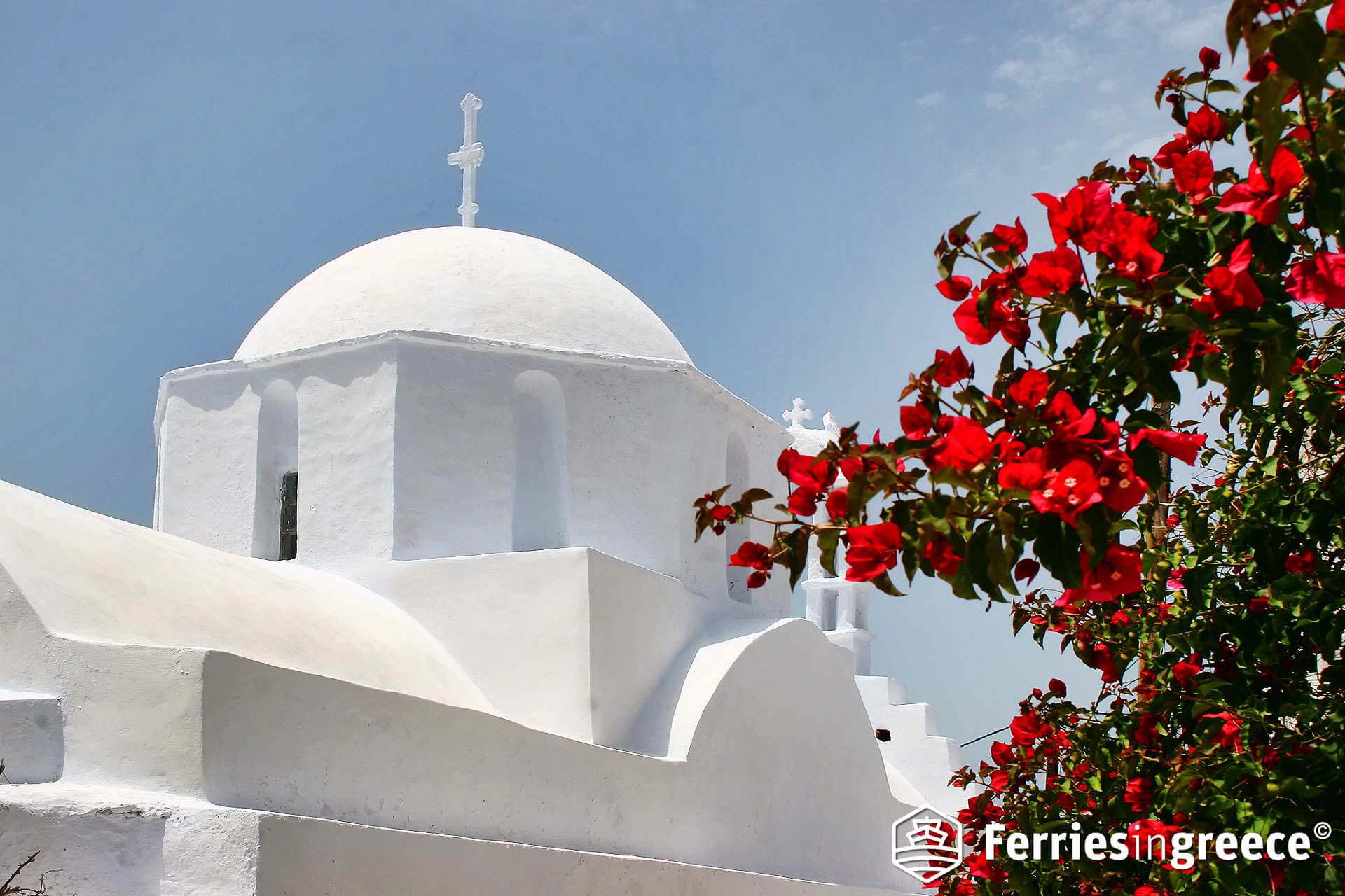 Typical Amorgos scene. Photo courtesy of Ferries In Greece.