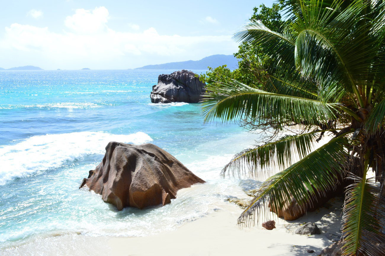Snorkeling spot on La Digue