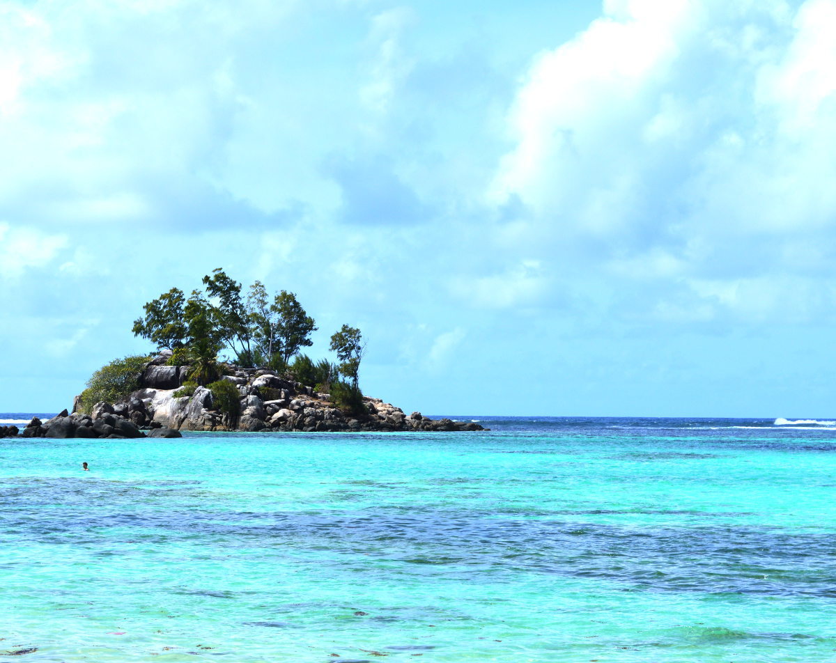 Little Island in the Seychelles