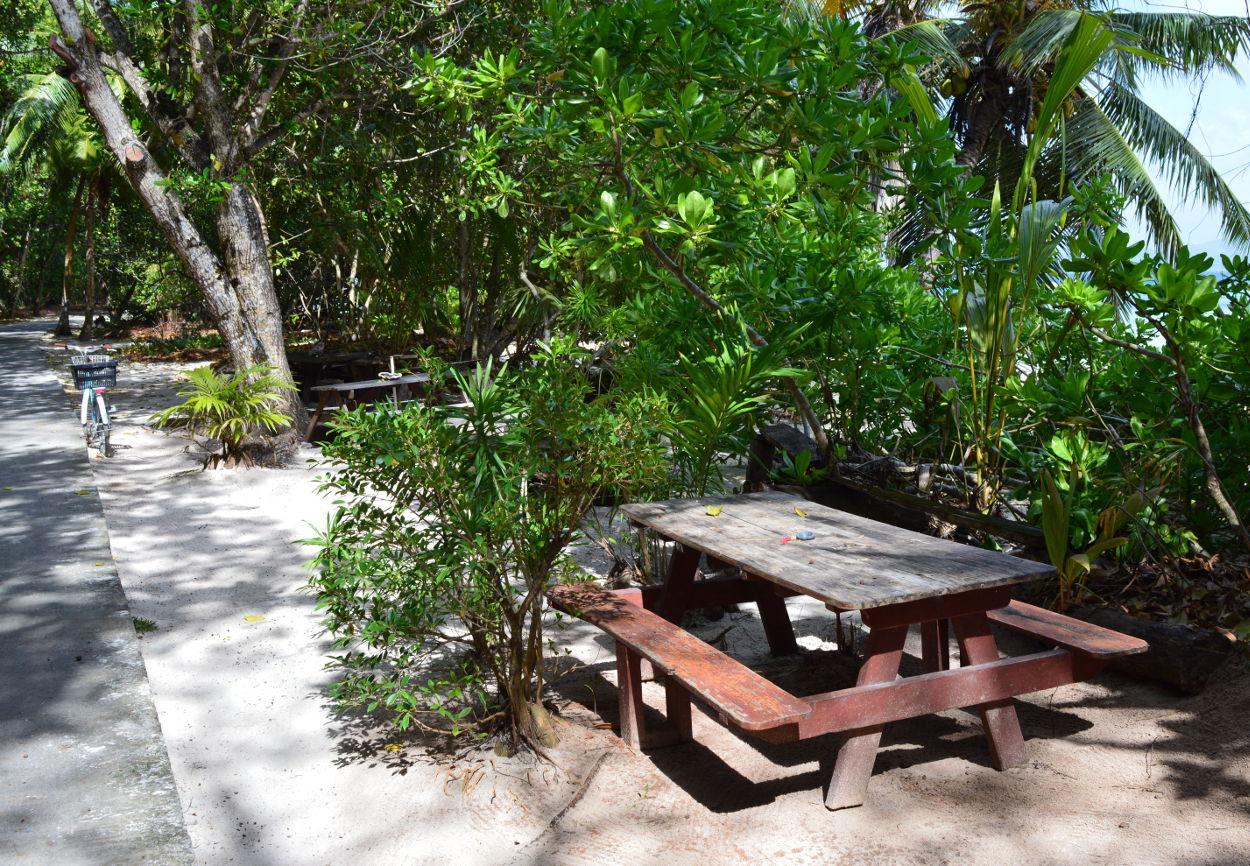 Beach Bar on Anse Severe