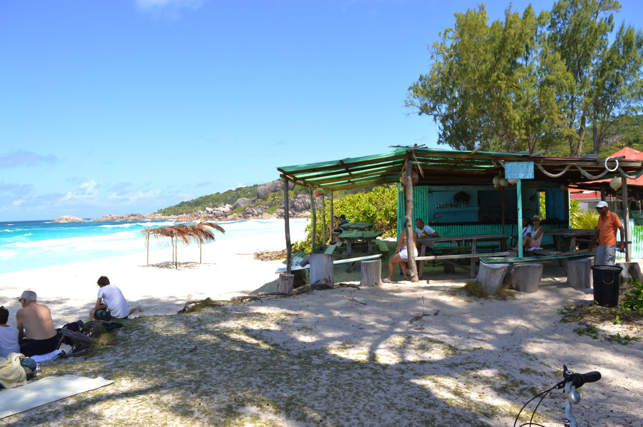 Beach Bar on La Digue