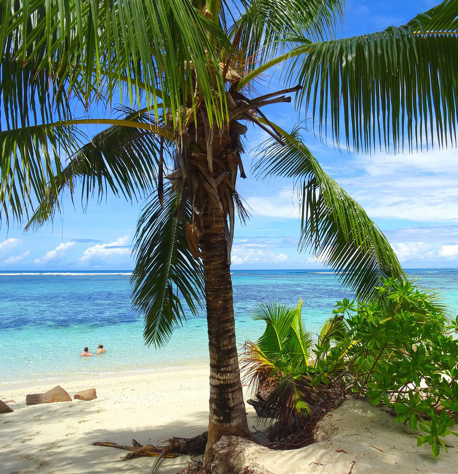 Beach on Praslin Island