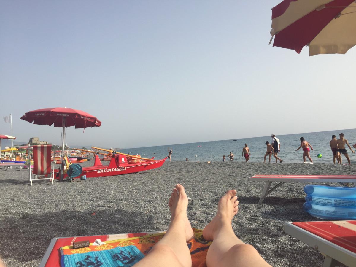 Beach in Scalea