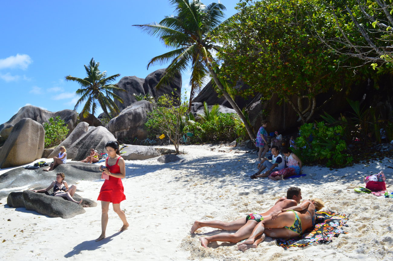 The best beach on la digue for Images of the best
