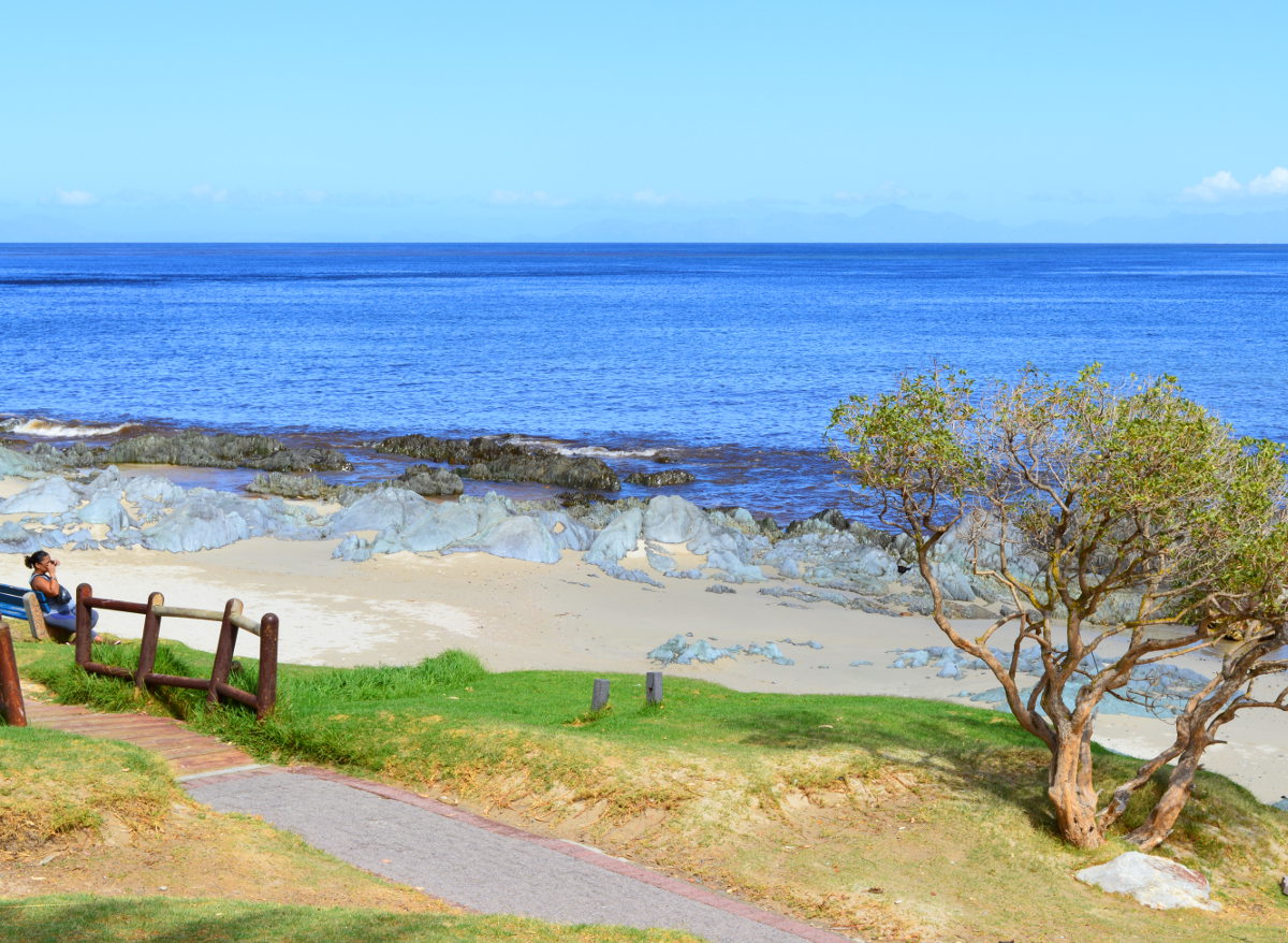 Beach pathway in Gordons Bay