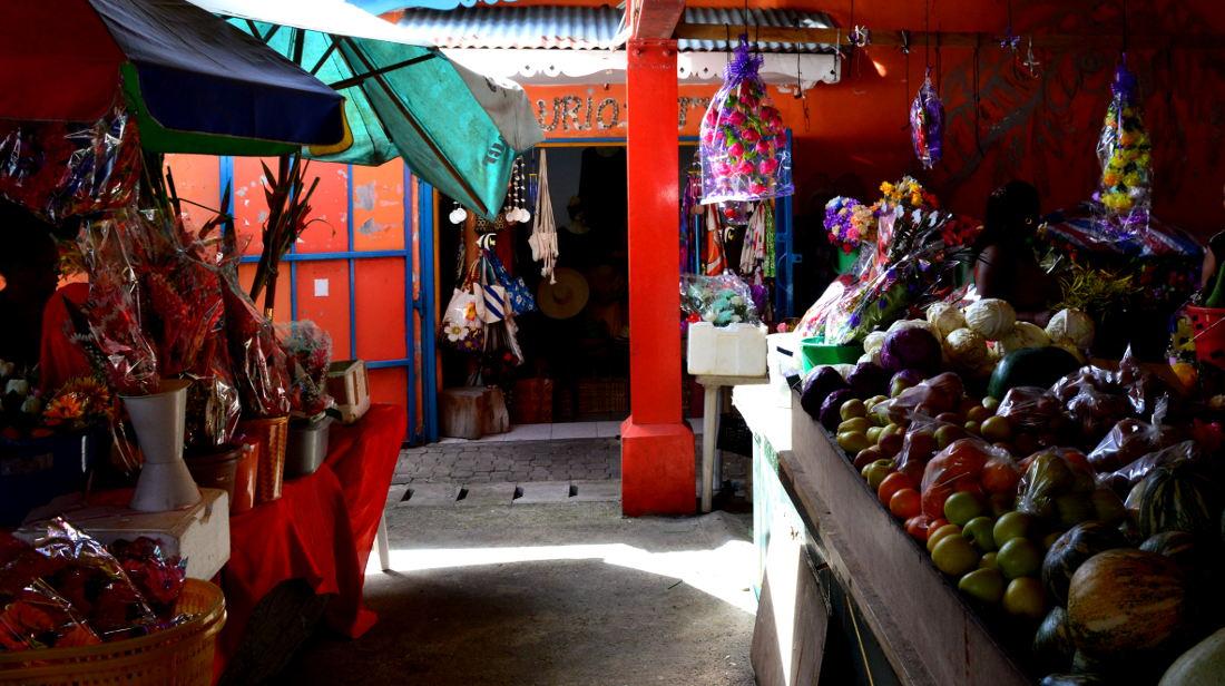 Inside the Market on Mahe