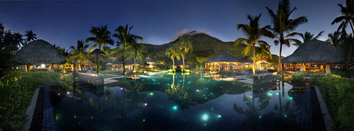 Swimming Pool at the Hilton Seychelles