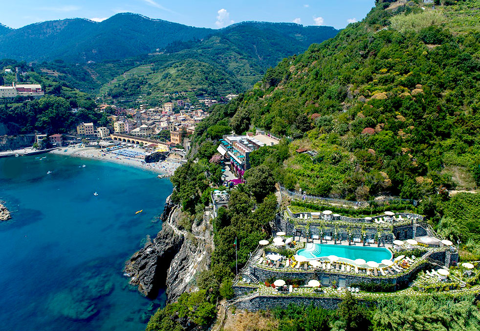 View of Monterro al Mare on the Cinque Terre.