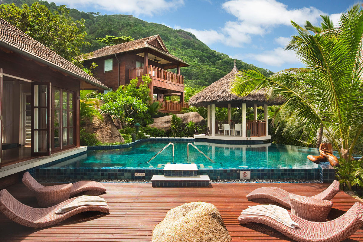 Villa at Hilton Hotel on Silhouette Island