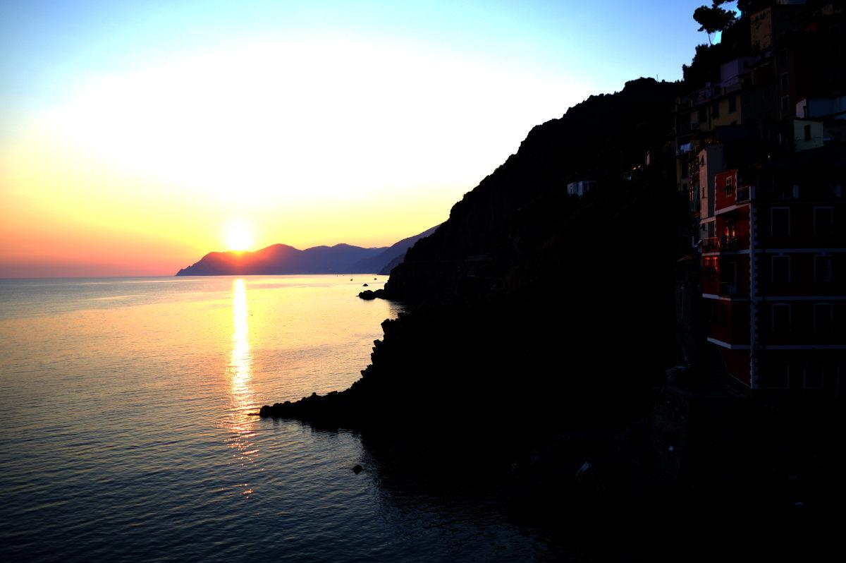 Cinque Terre at dusk