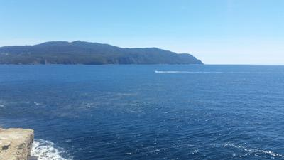 View from the harbour, out towards the open sea – next stop – Antarctica!