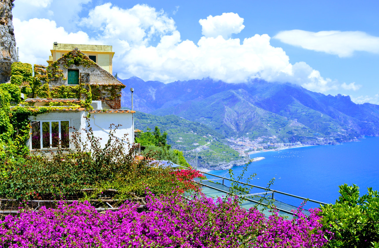 View on the Ravello to Minori Walk