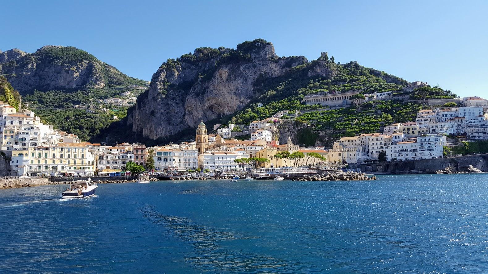 Arriving in Amalfi by Boat