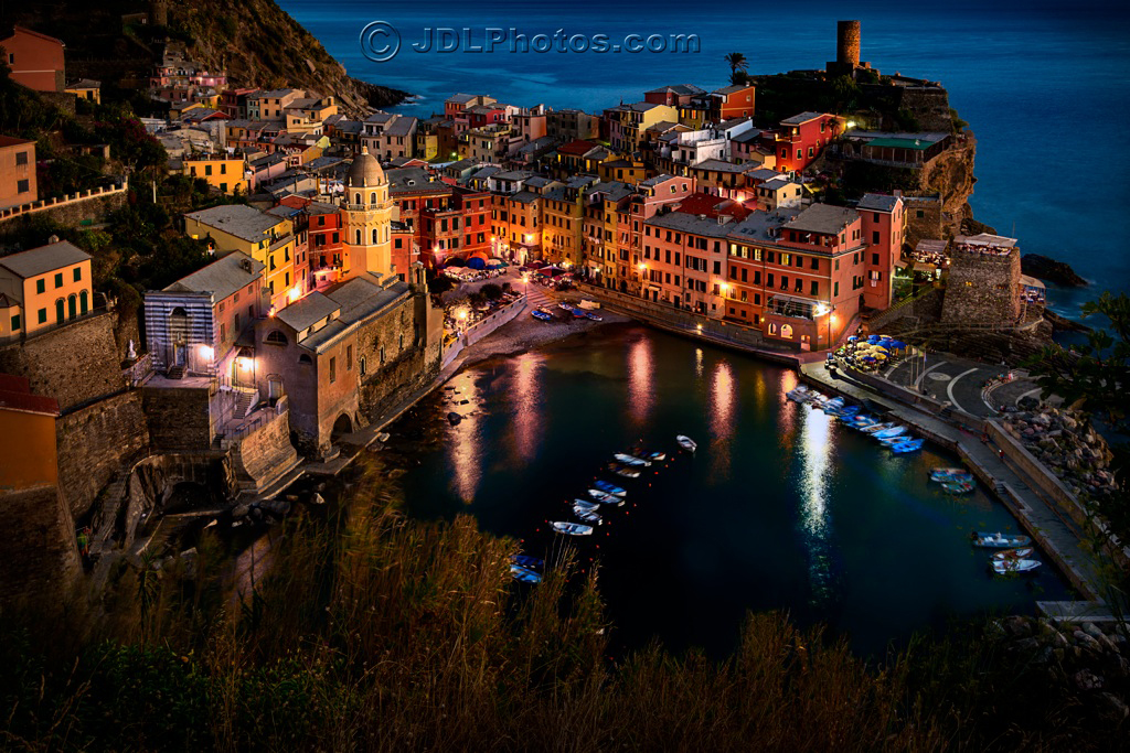 Night in Vernazza By Jim DeLutes