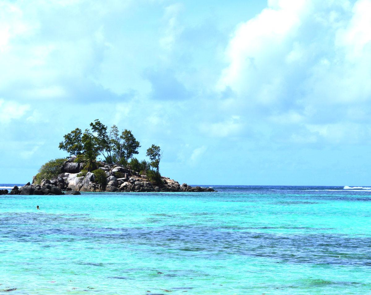 Little Island in the Seychelles