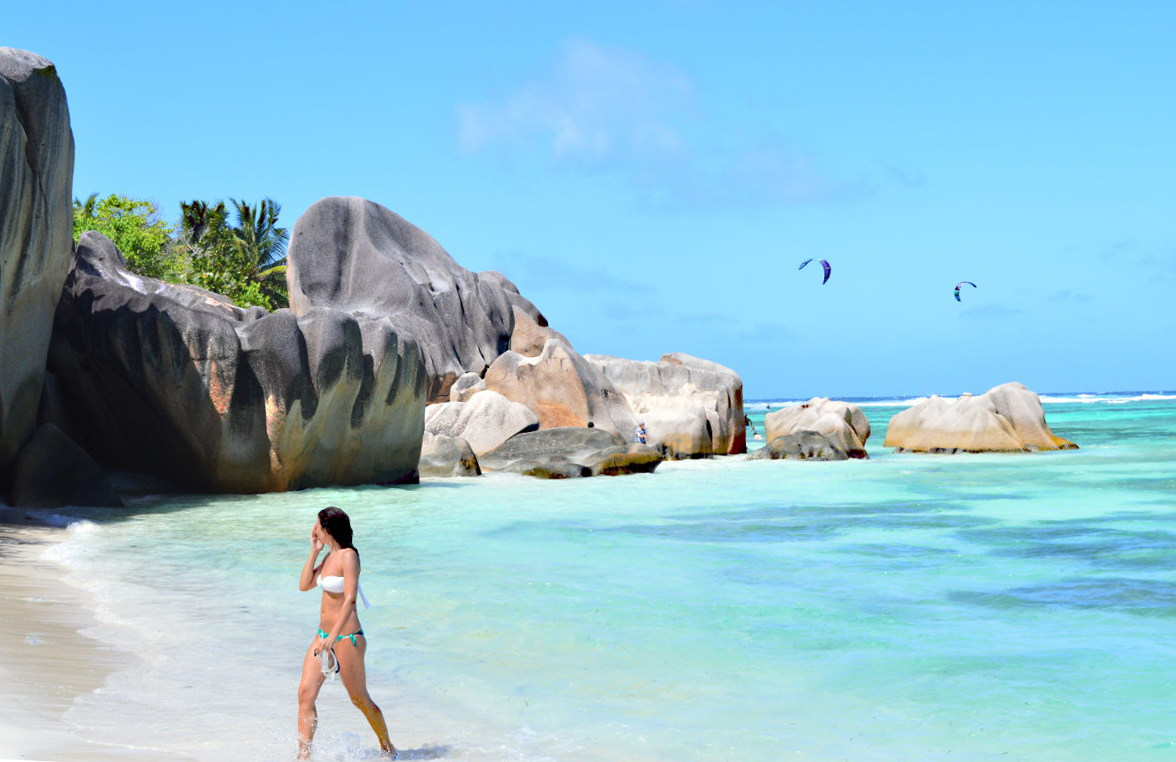 The best beach in the Seychelles - Anse Source d'Argent