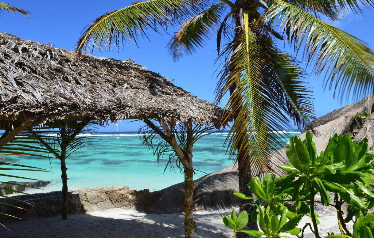 Palm hut on Anse Source d'Argent