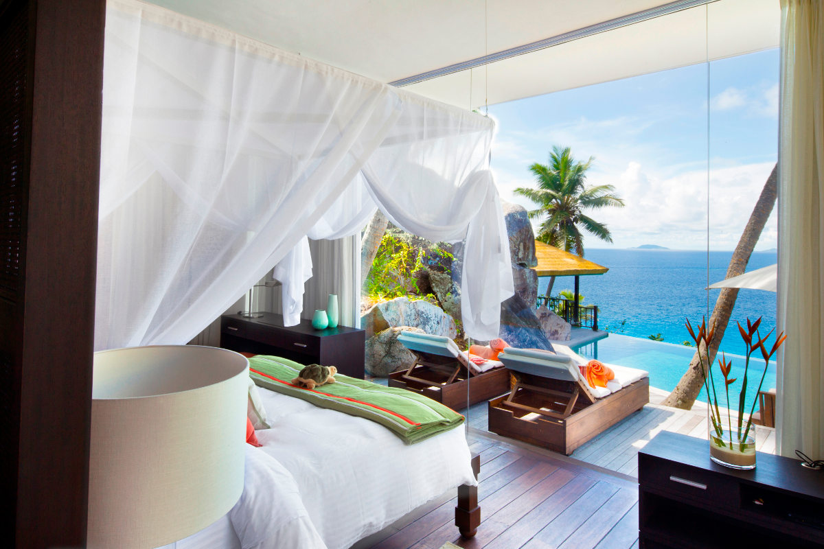 Accomodation on Fregate Private Island