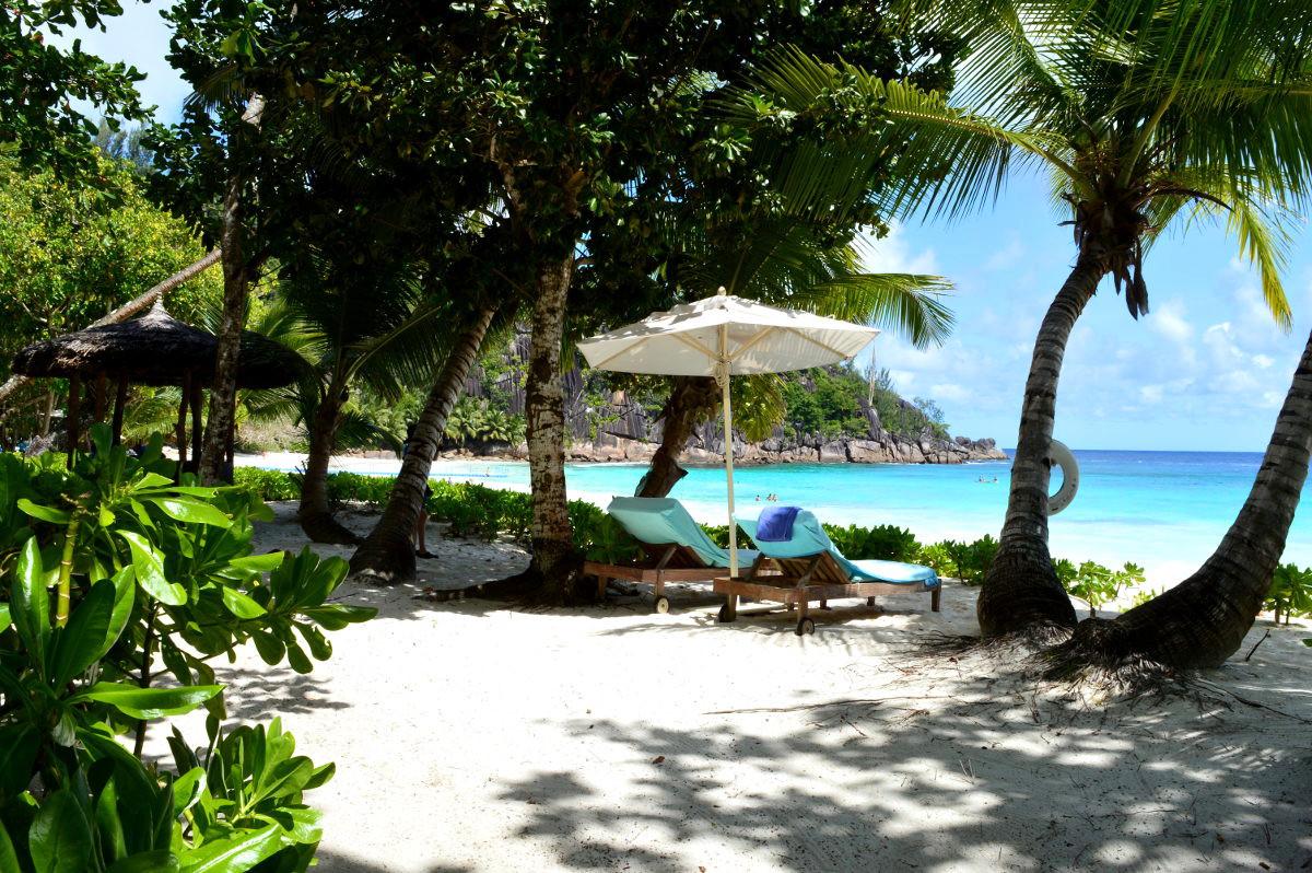 Deckchair on a Seychelles Beach
