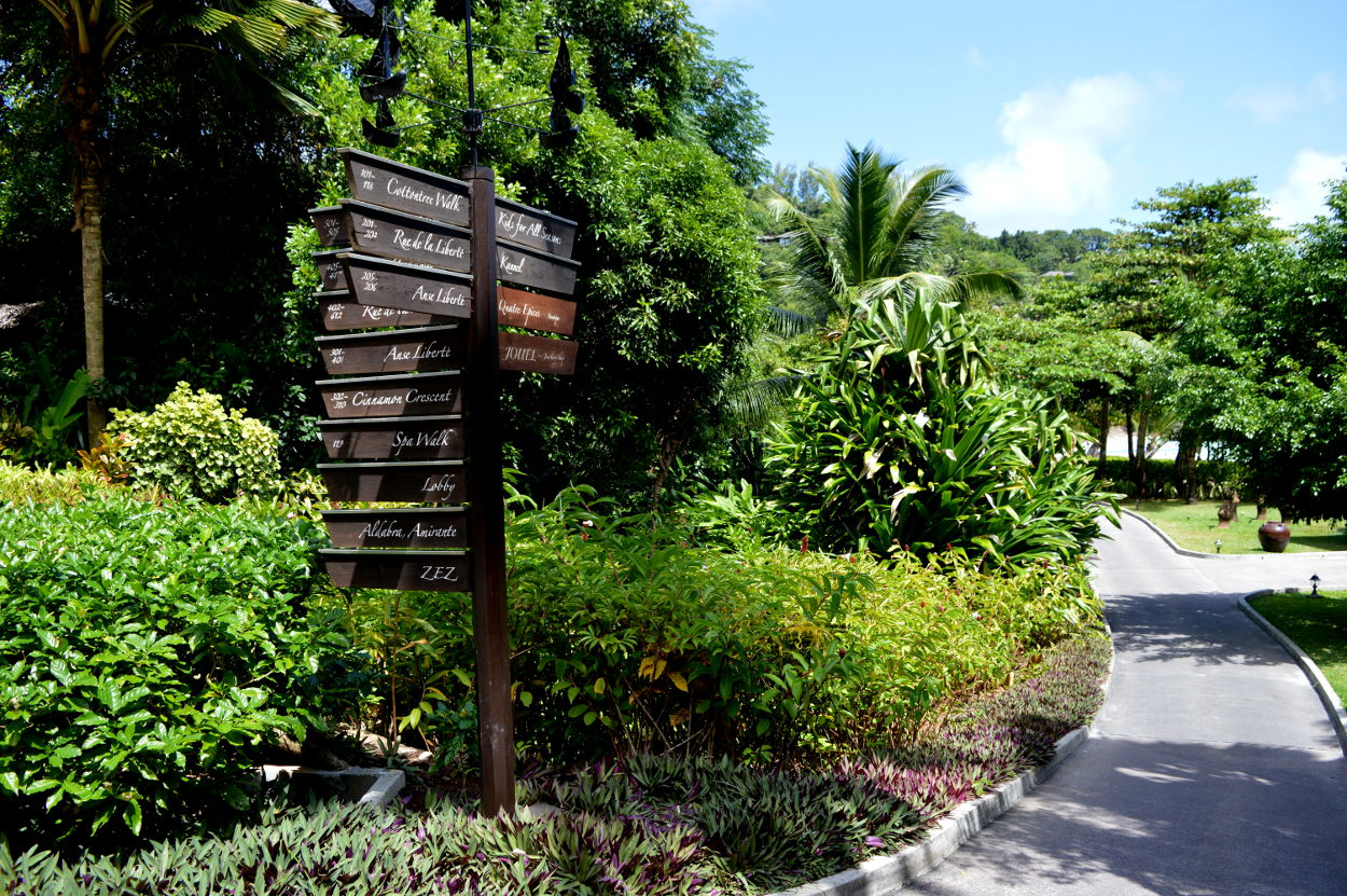 Signposts in the Four Seasons Resort