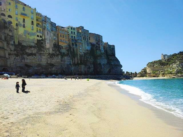 Beach in Tropea by Mimma Ruffa