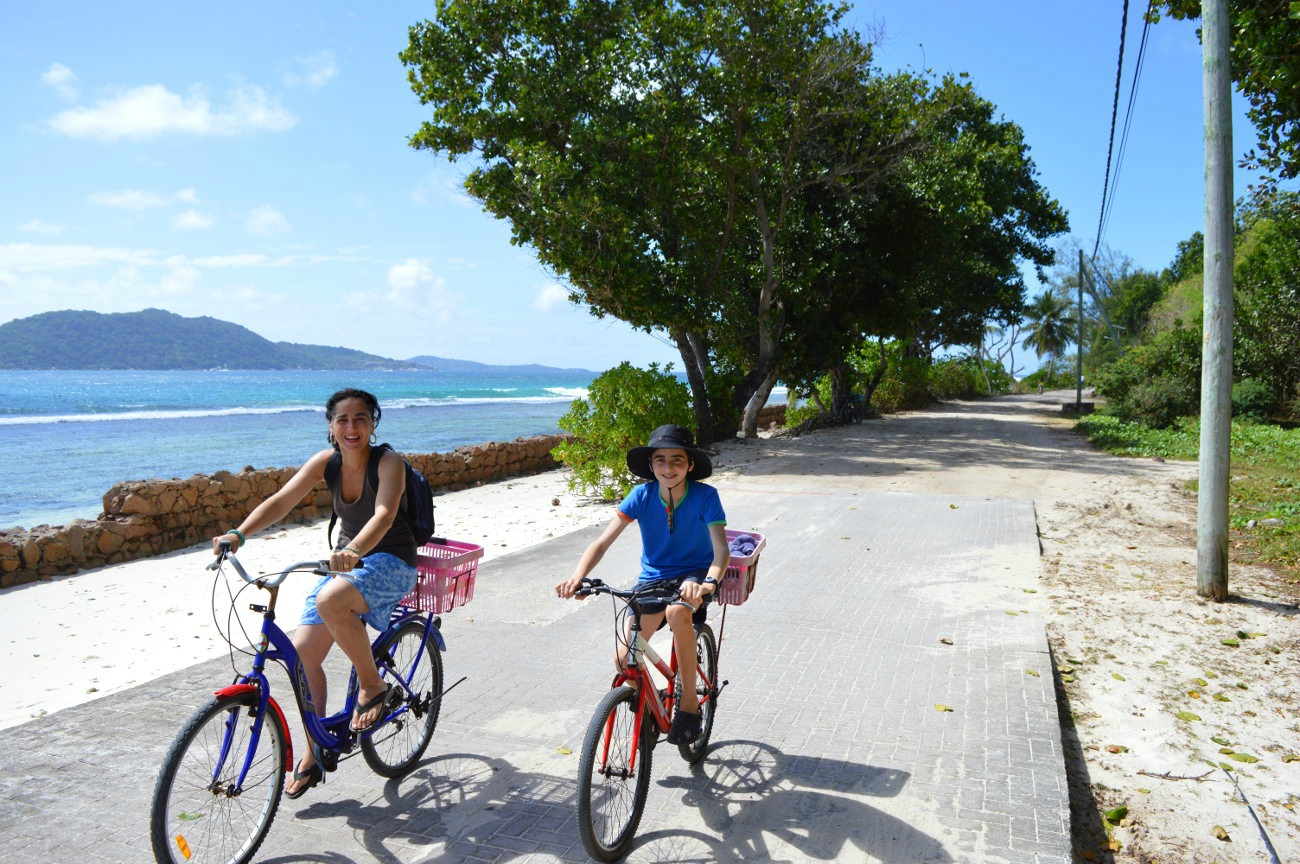 Cycling on La Digue