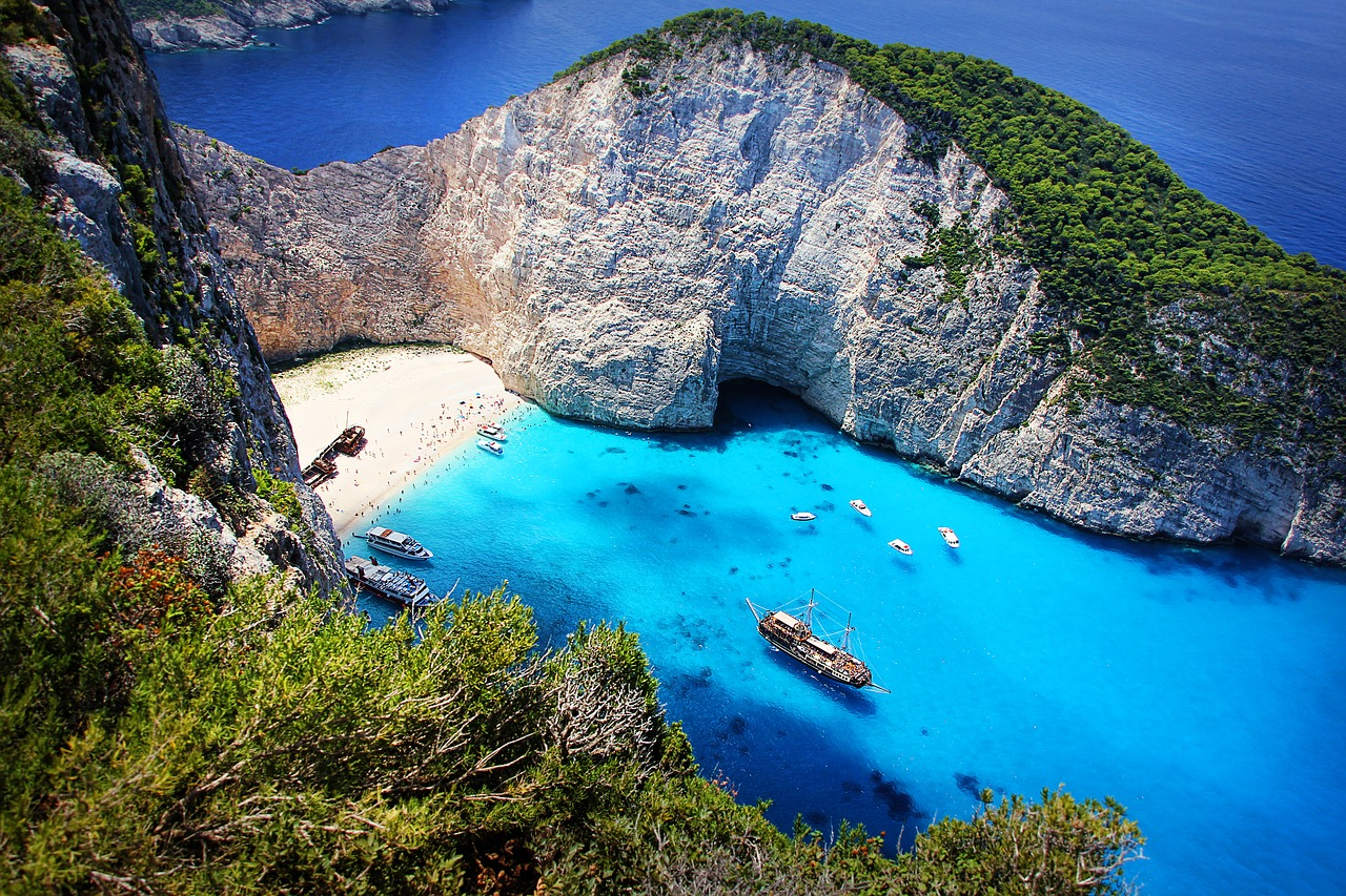 Sea off Navagio Beach